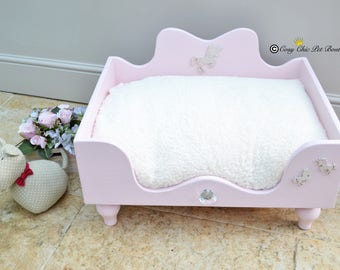 Pink Unicorn Dog Bed Cat Bed Ballerina Pink X-Small Raised Dog Bed Wooden Dog Bed