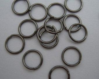 Black plated 6mm jump rings pack of 200 jumprings, gunmetal hematite colour