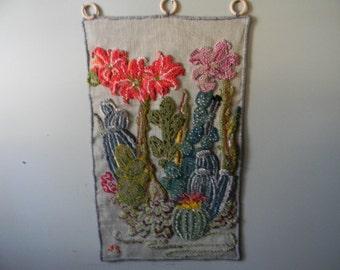 Original Hand Hooked Wool Wall Hanging