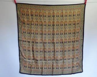 "Vintage Liberty silk hand rolled Scarf  IANTHE art nouveau pattern 86cm x 91cm / 33.8"" x 35.8"""