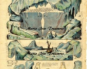 Vintage Reproduction of North Pole Paper Model Cut Outs - Digital Download