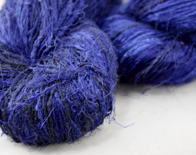 NEW***Handspun Recycled Mulberry Silk - Electric Blue