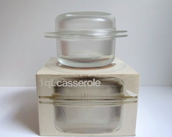 Heller Ovenware, Lella Vignelli, Massimo Vignelli, Ovenware, Vintage Heller, Casserole, Mid Century Modern Glass Baking Dish, Au Gratin Dish