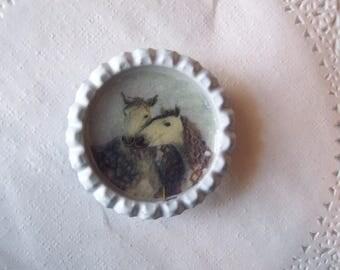 Dapple Gray Horse Magnet (741) - Horse Refrigerator Magnet - Horse Office magnet