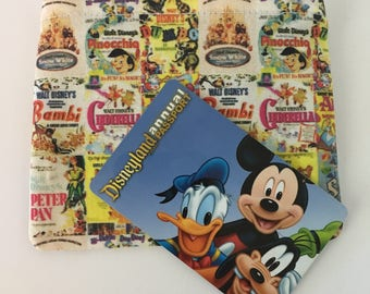MINI Disney-Inspired Vintage Classics Posters Handmade Fabric Small Zipper Pouch/Coin Purse