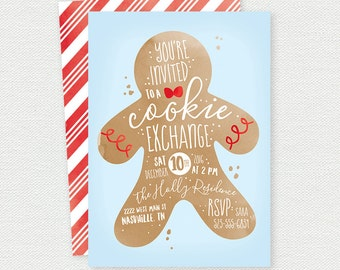 Cookie Exchange Invitation - Cookie Swap - Christmas Party
