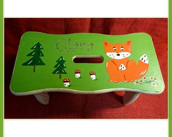 Fox footstool with Namesgravur