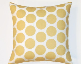 Yellow Pillow Cover, 20x20 Pillow Cover, Gold Decorative Pillows, Modern Accent Designer Cushion Covers, Fancy Saffron