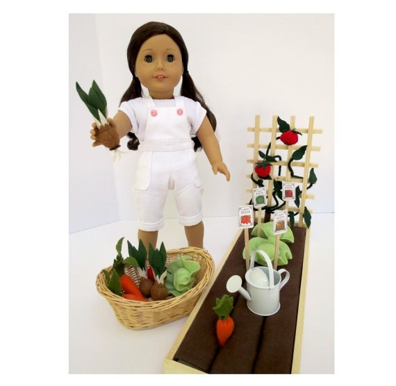 Doll garden handcrafted for 18 inch dolls such by for Garden tools for 18 inch doll