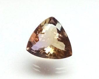 Genuine Ametrine Ring Stone. Ametrine Gemstone 16x15x9 mm - Ametrine Faceted Stone Purple and Yellow Colors