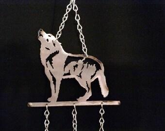Mini Wolf wind chime