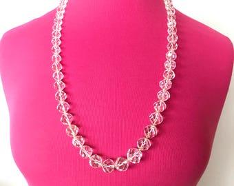 SALE Genuine Crystal Quartz Necklace