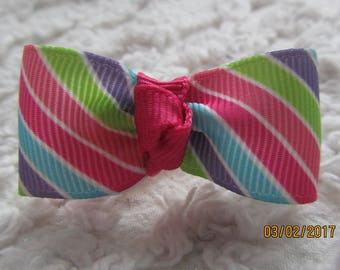 Dog Hair Bows Can Mix and match with any of my bows, PASTEL STRIPS dog bows, bows