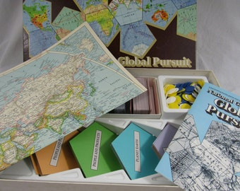 Vintage National Geographic Global Pursuit Board Game Geography Educational Toys and Games