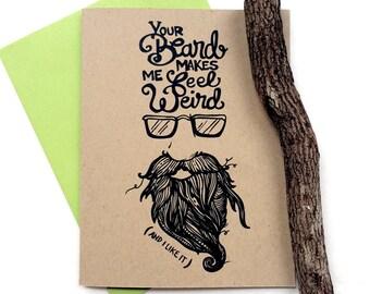 Weird Beard Greeting Card