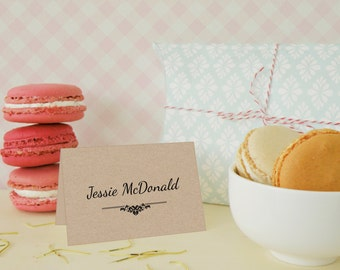 Pack of 10 Personalised Tent Place Name Cards-Party/Wedding