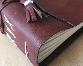 Brown Leather Journal | Leather Notebook | Travel Journal | Blank Journal | Blank Pages | Travel Notebook | Thick Journal