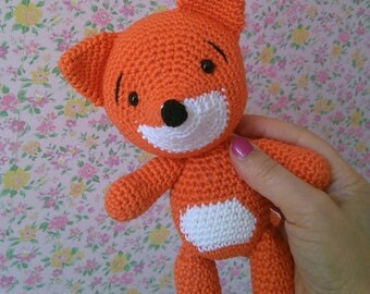 My friend the fox - Crocheted in cotton