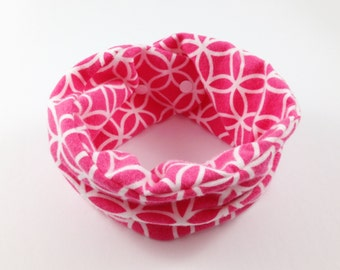 Pink Snap Scarf Baby Girl Scarves Unique Baby Scarf Baby Girl Loop Scarf Infant Girl Scarf Toddler Girl Scarves