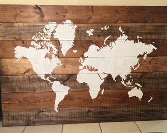 World Map Vinyl STENCIL ONLY