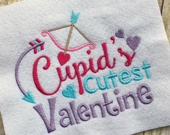 Valetine's Day Applique - Valentine Embroidery Saying - Valentine Embroidery Design - Embroidery Design - Cutest Valentine