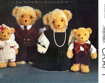 Vintage Vogue Craft 8959 – The Vogue Bear Family Wardrobe - Uncut and Factory Folded