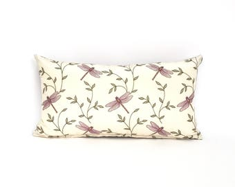 Purple Dragon Fly Lumbar Pillow for a Childs Room, Guest Room or Bedroom P-12-186