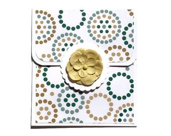 Floral Gift Card Holder - Birthday Gift Card Holder - Money Card Insert - Money Card - Gift Card Envelope - Flower