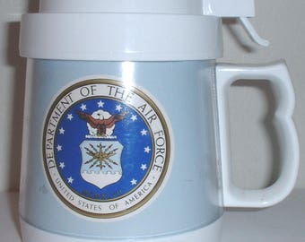 USAF US Air Force plastic travel coffee mug