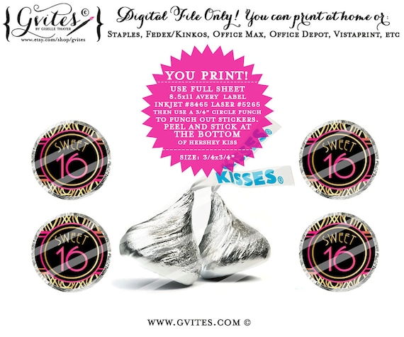 ... customizable $25.00 Gatsby party decor, great gatsby printables, party  printable, candy stickers, sweet 16