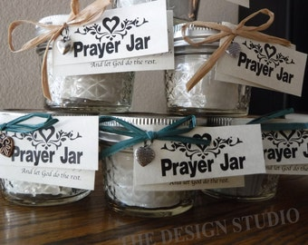 Prayer Jar, Encouragement Jar, Inspiration Jar, Religious Gift, Gift of Comfort, Strength and love, Valentine's Day Gift, Mother's Day Gift