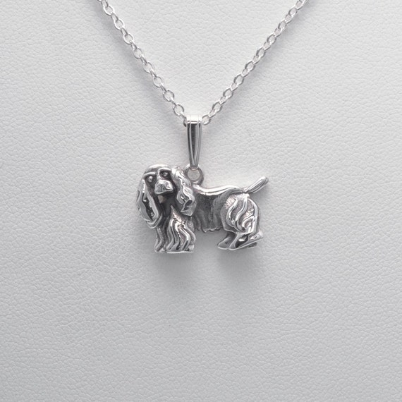 Sterling silver cocker spaniel necklace by donna pizarro from for Just my style personalized jewelry studio