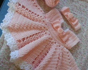 Beautiful soft pink baby dress outfit.