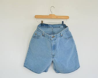 """Orange Tab Levi's Denim Shorts Women's 30.5"""" waist Size 11 Levi's 550 Relaxed Fit High Waist/Rise Faded perfectly 90's Era"""