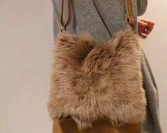 "Fur & leather bag ""Terms of Endearment"""