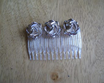 sterling rose hair comb
