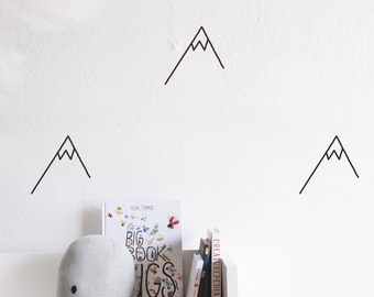 Wall Decal - Die Cut Mountain -  Wall Sticker - Room Decor