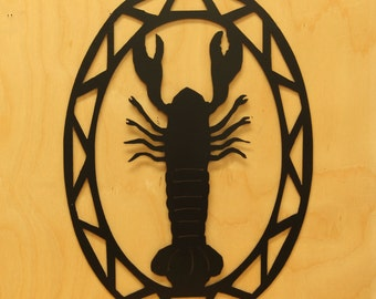 Lobster Contemporary Oval Wall Hanging