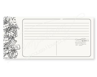 Notepads, memo pad, stationery, pads, bloc, to do list, list, writing pad, office supplies - Notepad-Set - Faux postcard