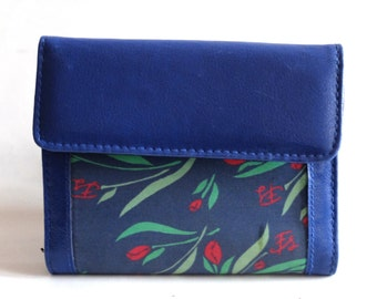Vintage wallet, with flowers, 80s