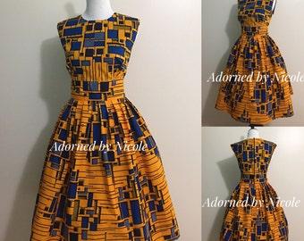 Mosaic African Print Dress