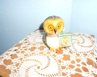 Mid-Century Alabaster Owl Figurine