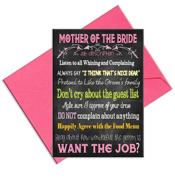 Mother Of The Bride Job Description For Mother Of The Bride