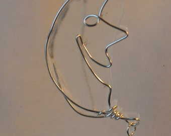 Man-In-The-Moon Wire Wrapped Sea Glass Necklace