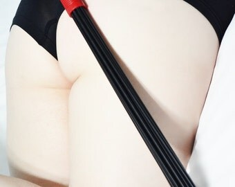 Devil's Due - Black and Red Heavy Duty Delrin Multi Cane for BDSM Play