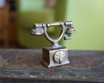 Miniature Brass Antique Telephone