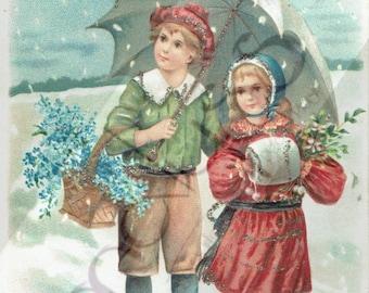 "Postcard of the beginning 1900 ""Merry Christmas"