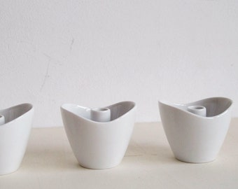 4 candle holders by Thomas made in Germany porcelain