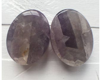 "1"" (25.4mm) amethyst ovals"