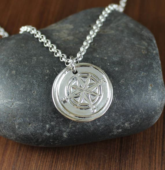 Compass Rose ~ Artisan Handcrafted ~ pendant necklace